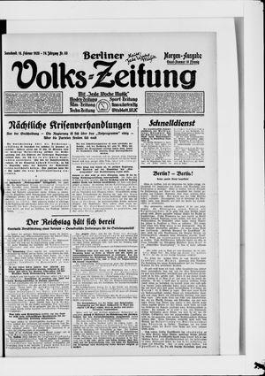 Berliner Volkszeitung vom 18.02.1928