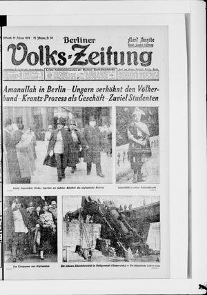 Berliner Volkszeitung vom 22.02.1928
