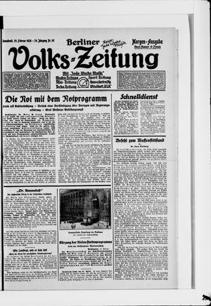 Berliner Volkszeitung on Feb 25, 1928