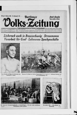 Berliner Volkszeitung vom 27.02.1928