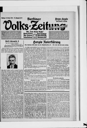 Berliner Volkszeitung vom 28.02.1928