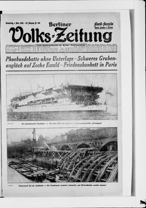 Berliner Volkszeitung on Mar 1, 1928
