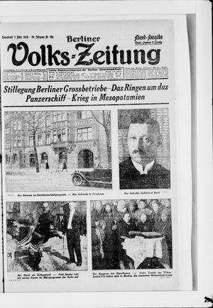 Berliner Volkszeitung vom 03.03.1928