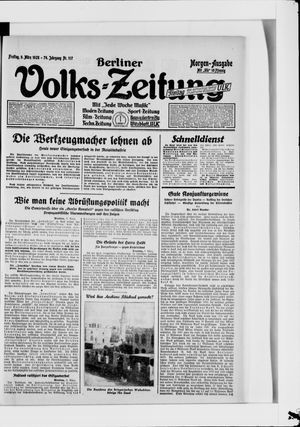 Berliner Volkszeitung vom 09.03.1928