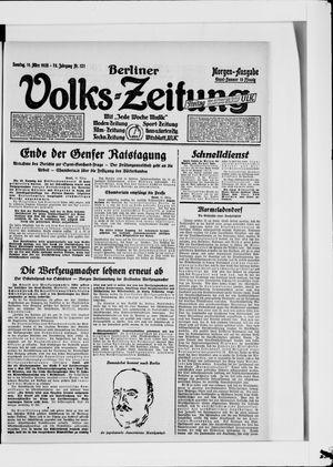 Berliner Volkszeitung vom 11.03.1928