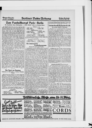 Berliner Volkszeitung vom 25.03.1928