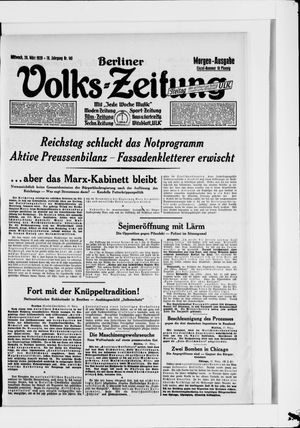 Berliner Volkszeitung vom 28.03.1928