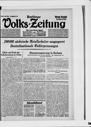 Berliner Volkszeitung vom 06.04.1928