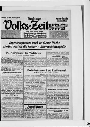 Berliner Volkszeitung on Apr 10, 1928