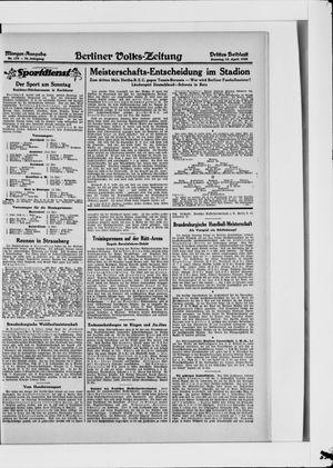 Berliner Volkszeitung vom 15.04.1928