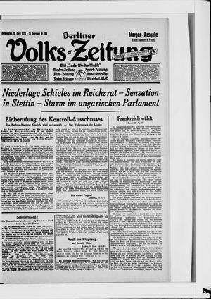 Berliner Volkszeitung vom 19.04.1928