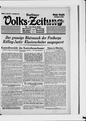 Berliner Volkszeitung vom 25.04.1928