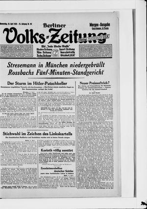 Berliner Volkszeitung vom 26.04.1928
