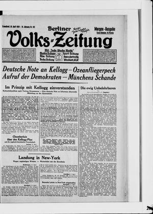 Berliner Volkszeitung vom 28.04.1928