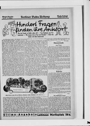 Berliner Volkszeitung vom 29.04.1928