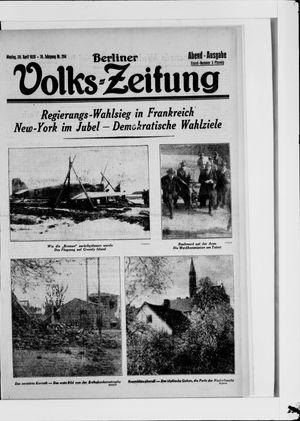 Berliner Volkszeitung vom 30.04.1928