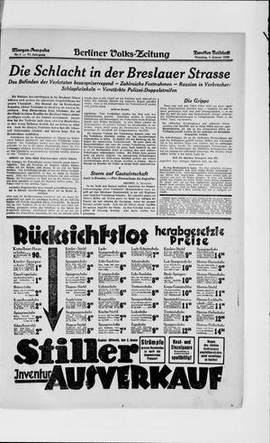 Berliner Volkszeitung vom 01.01.1929