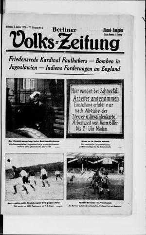 Berliner Volkszeitung vom 02.01.1929
