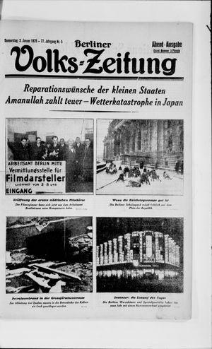 Berliner Volkszeitung vom 03.01.1929