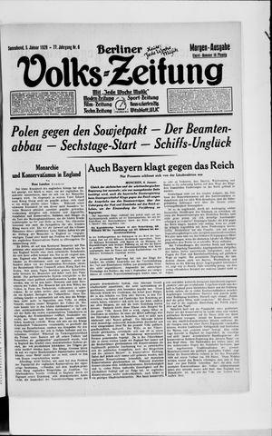 Berliner Volkszeitung vom 05.01.1929