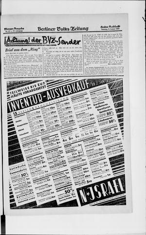 Berliner Volkszeitung vom 06.01.1929