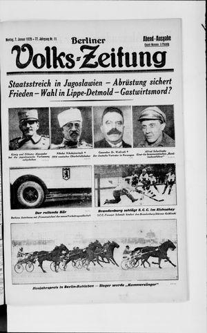 Berliner Volkszeitung vom 07.01.1929