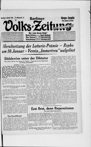 Berliner Volkszeitung vom 08.01.1929