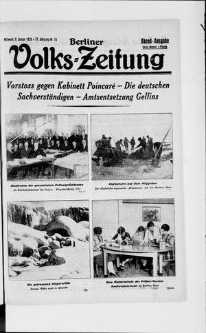 Berliner Volkszeitung vom 09.01.1929
