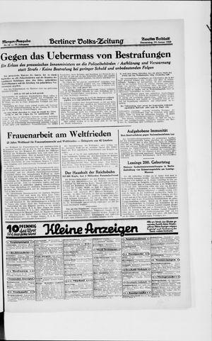 Berliner Volkszeitung vom 10.01.1929