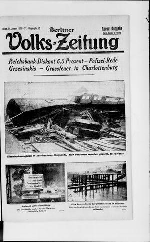 Berliner Volkszeitung vom 11.01.1929