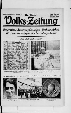 Berliner Volkszeitung vom 12.01.1929