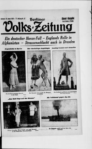 Berliner Volkszeitung vom 16.01.1929