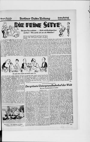 Berliner Volkszeitung vom 20.01.1929