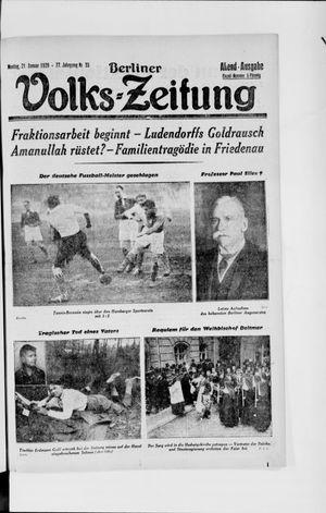 Berliner Volkszeitung vom 21.01.1929