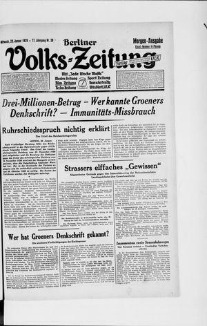 Berliner Volkszeitung vom 23.01.1929