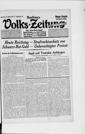 Berliner Volkszeitung vom 24.01.1929