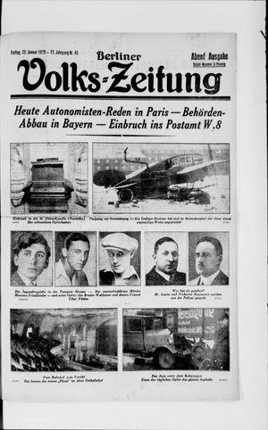 Berliner Volkszeitung vom 25.01.1929