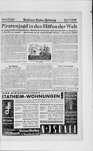 Berliner Volkszeitung vom 27.01.1929