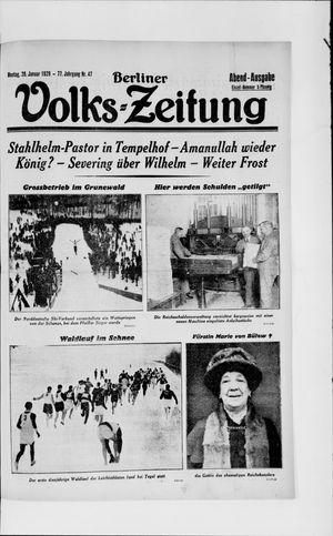 Berliner Volkszeitung vom 28.01.1929