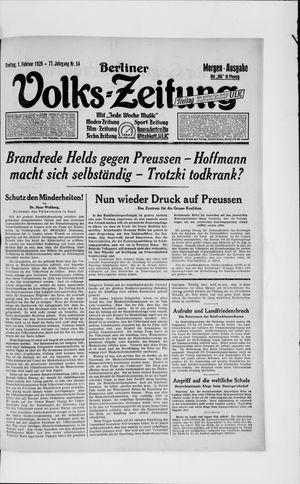 Berliner Volkszeitung vom 01.02.1929