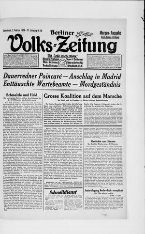 Berliner Volkszeitung vom 02.02.1929