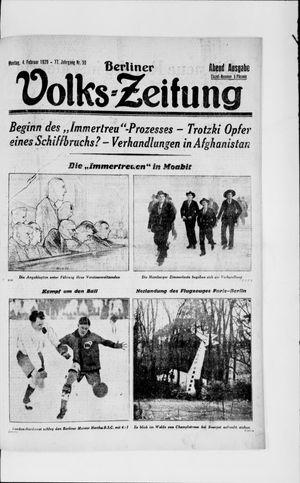 Berliner Volkszeitung vom 04.02.1929