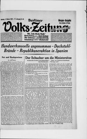 Berliner Volkszeitung vom 05.02.1929