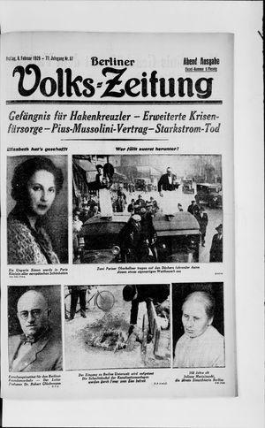 Berliner Volkszeitung vom 08.02.1929