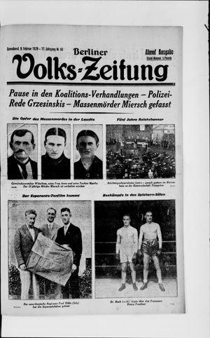 Berliner Volkszeitung vom 09.02.1929