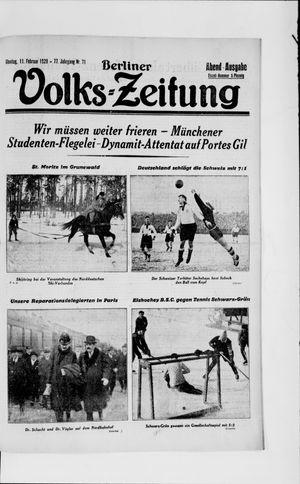 Berliner Volkszeitung vom 11.02.1929