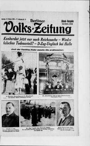 Berliner Volkszeitung vom 12.02.1929