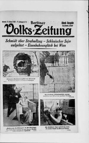 Berliner Volkszeitung vom 13.02.1929