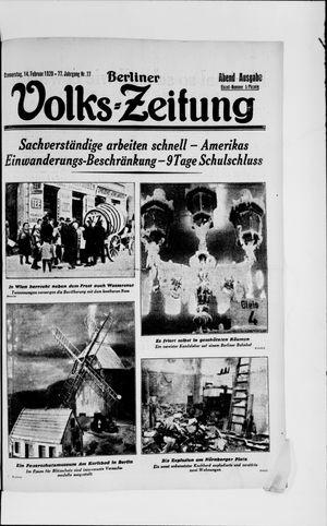 Berliner Volkszeitung vom 14.02.1929