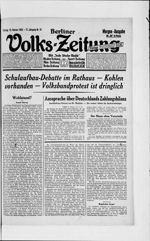 Berliner Volkszeitung vom 15.02.1929